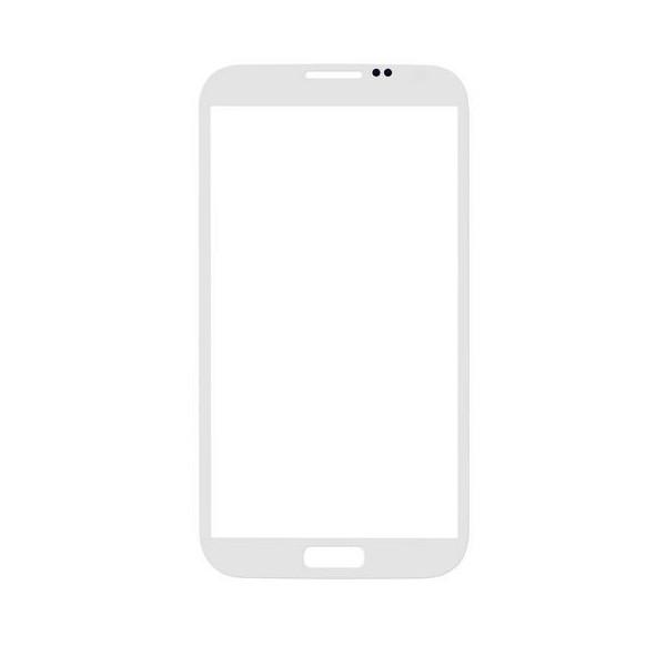 Galaxy Note 2 : vitre blanche pour N7100 ou 4G N7105 sans logo - pièce détachée