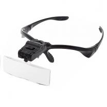 Lunettes loupe 5 lentilles interchangeables à LED