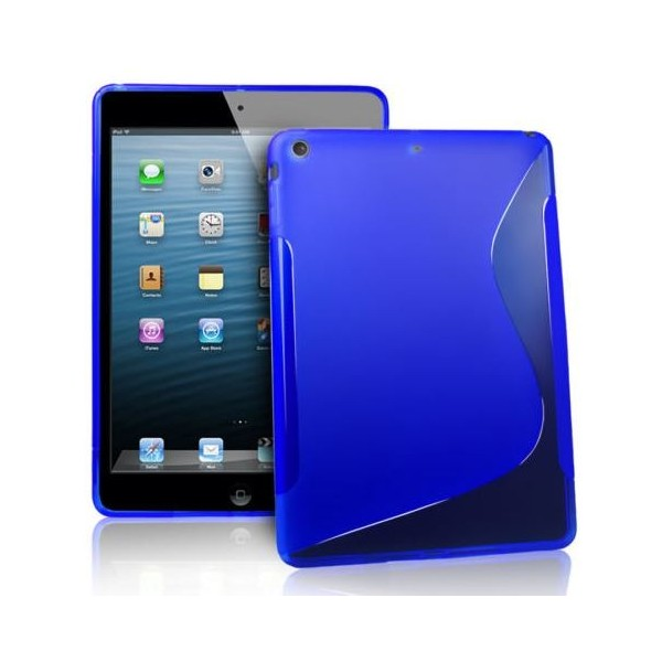 iPad Air : Etui gel bleu type S