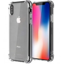 iPhone X, XS : Coque silicone TPU transparente, angles renforcés