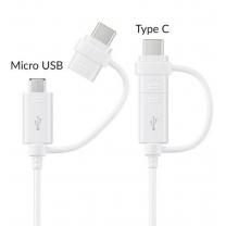 Câble USB Samsung vers Micro-USB & USB type C Blanc EP-DG930DWE