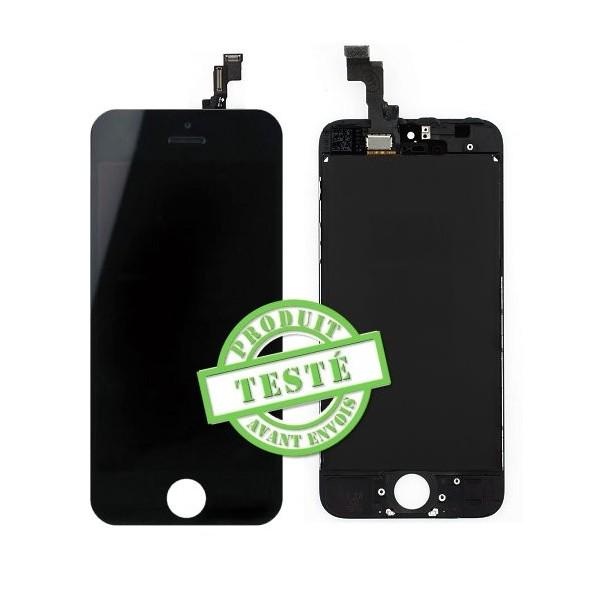 iPhone 5C : écran Noir LCD et Vitre tactile assemblés - pièce détachée
