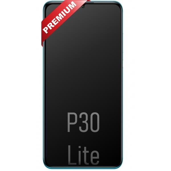 Vente vitre écran châssis Huawei P30 Lite bleu, pièce de réparation