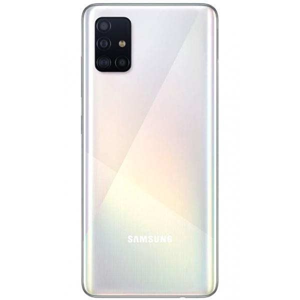 Cache arrière Galaxy A51 blanc