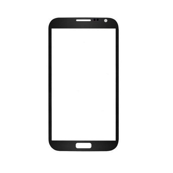 Galaxy Note 2 : vitre Grise pour N7100 ou 4G N7105 sans logo - pièce détachée