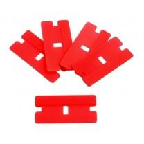 Lot 5 Lames en plastique rouge - Outils