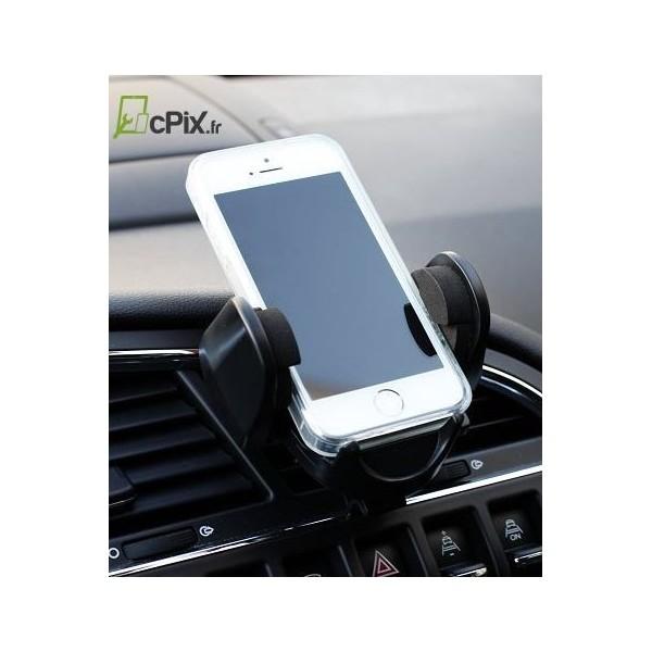 support de voiture pour grilles d 39 a ration universel pour smartphones. Black Bedroom Furniture Sets. Home Design Ideas