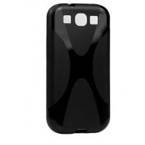 Galaxy S3 et S3 4G : Housse Gel noir X LINE