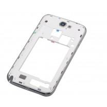 Samsung Galaxy Note 2 : assemblage blanc contour argent arrière