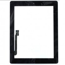 réparation iPad 3 : Complet : Vitre tactile noire avec bouton home