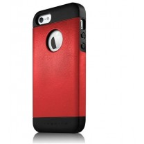 iPhone 5 / 5S / SE : ETUI ROUGE NOIR ANIBAL ITSKINS