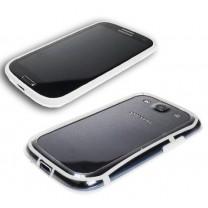 Samsung Galaxy S3 et S3 4G : bumper Blanc transparent - accessoire