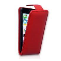 iPhone 5C : housse rabat rouge - accessoire