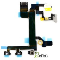 remplacement iPhone 5C : Nappe Power Vibreur Volume - pièce détachée