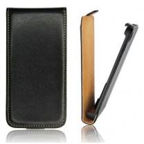 Samsung Galaxy TREND S7560 : Etui noir simili cuir - accessoire