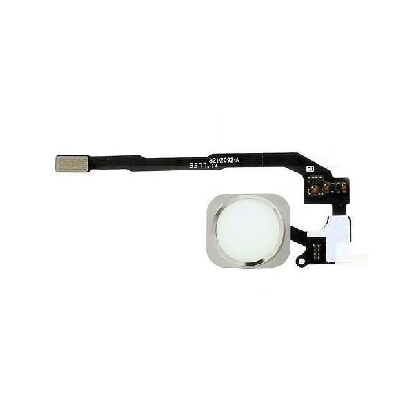 Bouton Home iPhone 5S et SE blanc. Acheter la pièce détachée avec nappe