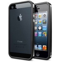 iPhone 5, 5S, SE - Boitier Bumper noir