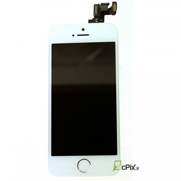 ecran iphone 5s complet blanc avec vitre lcd cam ra. Black Bedroom Furniture Sets. Home Design Ideas