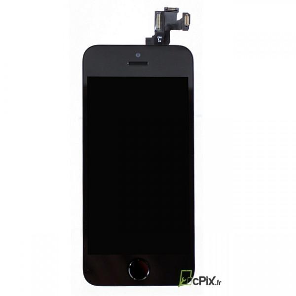 Vitre Ecran complet noir iPhone 5S de rechange