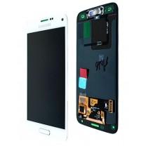 Samsung Galaxy S5 Mini G800F : Ecran complet Blanc tactile et Lcd