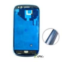 Galaxy S3 MINI GT-i8190 : monture avant et contour pour écran bleu