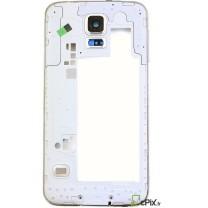 Samsung Galaxy S5 : Chassis contour argent arrière