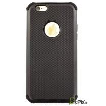 iPhone 6 / 6S : coque antichoc Noire ALV Design souple et rigide
