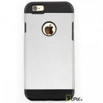 iPhone 6 : coque antichoc Blanche et Noire PERF Design souple et rigide