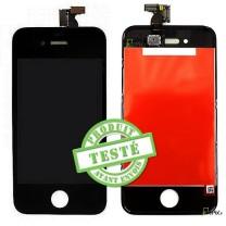 iPhone 4S : Ecran Noir LCD + vitre tactile assemblés - cpix