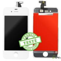 iPhone 4S : Ecran Blanc LCD + vitre tactile assemblés - pièce détachée