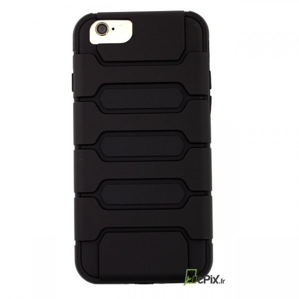 coque de protection souple et rigide noire antichoc pour iphone 6 6s. Black Bedroom Furniture Sets. Home Design Ideas