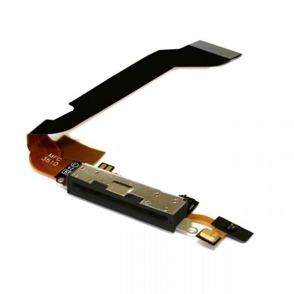 connecteur de charge avec micro pour iphone 4s apple. Black Bedroom Furniture Sets. Home Design Ideas