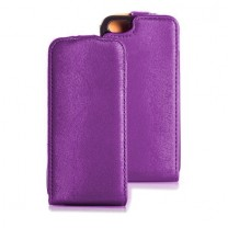 Etui rabat violet iPhone 5, 5S