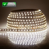 Ruban 300 LED blanc chaud 5 mètres (60 LED M) - 5050 SMD - IP65