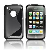 iPhone 3G / 3GS : Etui gel noir - accessoire