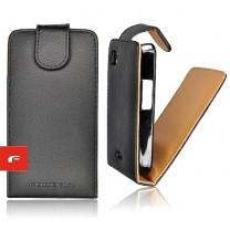 iPhone 3G / 3GS : Etui simili cuir noir à ouverture verticale - accessoire