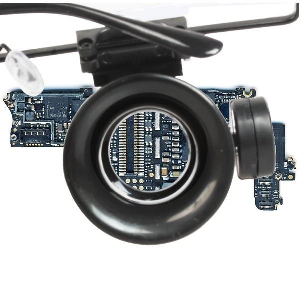 Lunettes Loupe d horloger éclairante à LED · Vue d un optique de la lunette  ... 170b6870ca4a