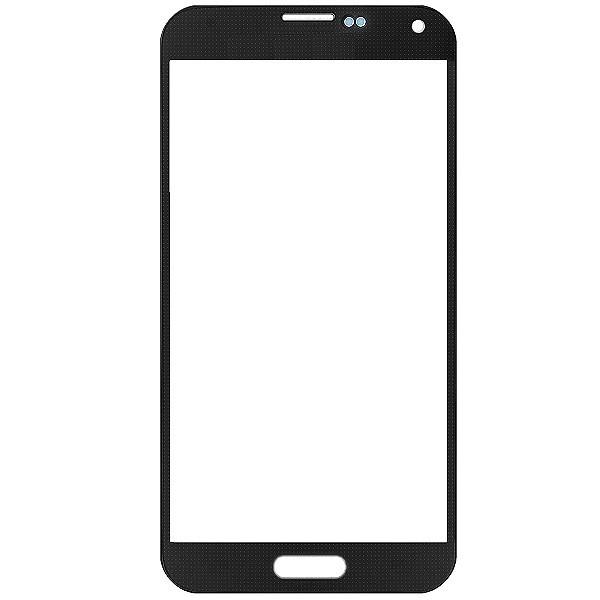 Vitre Noire sans logo : Samsung Galaxy Alpha SM-G850F