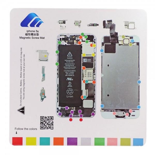 Tapis gabarit magnétique pour le démontage des vis d'iPhone 5S