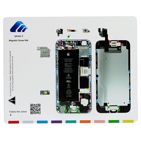 Tapis de travail magn tique gabarit d montage des vis for Iphone 4 screw template