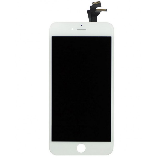 Vitre écran iPhone 6 Plus blanc LCD RETINA sur châssis. Pièce détachée