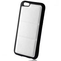 iPhone 6 / 6S : Coque Souple Briko blanche et noire - accessoire