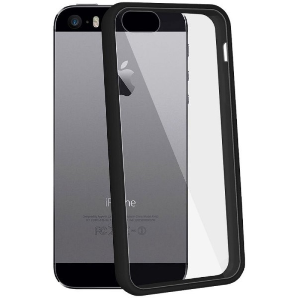 iphone 5 5s se coque rigide de protection noire et. Black Bedroom Furniture Sets. Home Design Ideas