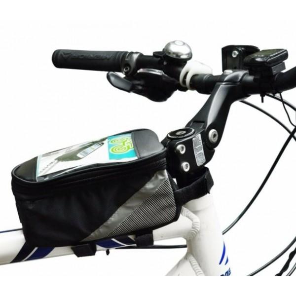 sacoche smartphone vélo sur cadre guidon