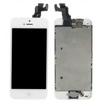 Ecran Complet blanc iPhone 5C (comprenant la Vitre tactile + LCD + Camera + Home assemblé) - pièce détachée