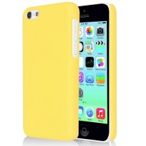iPhone 5C : Coque Jaune rigide