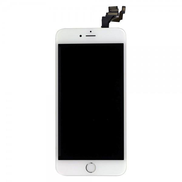 iPhone 6 Plus : Complet Ecran Blanc Vitre + LCD + Caméra + Home assemblé - pièce détachée