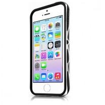 IPhone 5 / 5S / SE : Bumper à double protection noir et gris