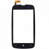Nokia Lumia 610 : Vitre tactile noire SEULE - pièce détachée