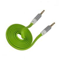 Câble Vert plat jack / Jack mâle 3,5mm